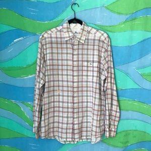 🌈 CHOOSE 3 for $30 VINTAGE LACOSTE plaid shirt